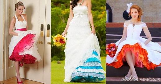 свадебные цветные подъюбники