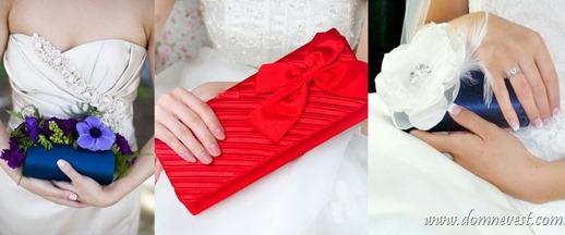 цветные свадебные сумочки