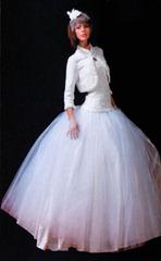 вязаное свадебное болеро
