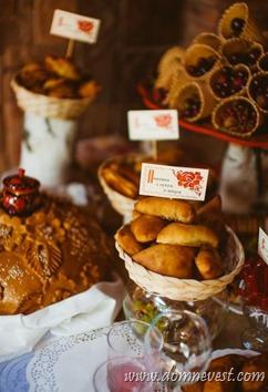 сладкий стол на русской свадьбе