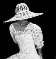 вязаная шляпа свадебная