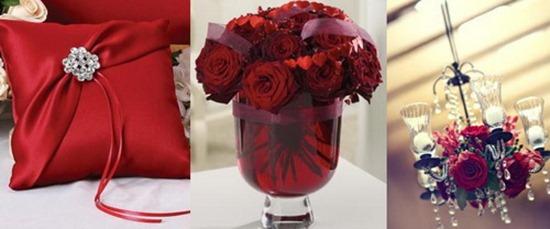 украшение дома невесты в красном цвете