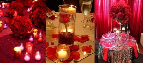 оформление банкетного зала в красном цвете