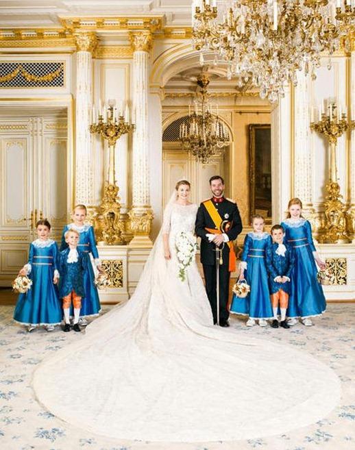 свадьба принца Гийома и графини Стефани