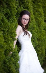 красивая невеста в очках
