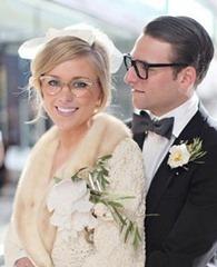 жених и невеста в очках