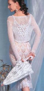вязаное болеро, платье и зонт