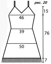 рисунок-схема вязаного платья