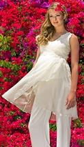 свадебный костюм для беременной невесты