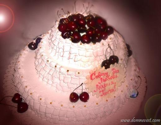 свадебный торт с черешней