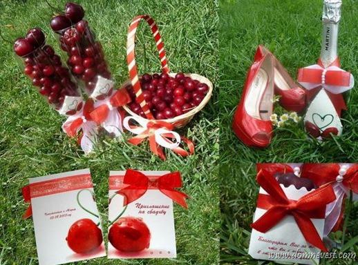 тема свадьбы вишня