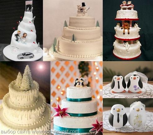 фигурки для зимнего торта