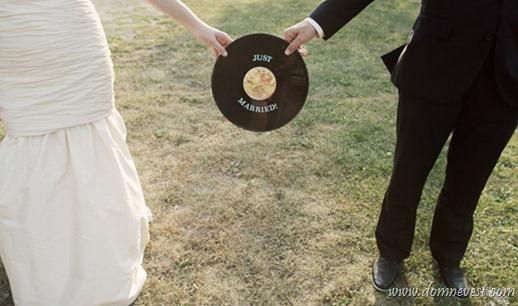 виниловые пластинки на свадьбе