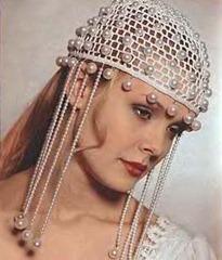 свадебная шапочка с жемчугом