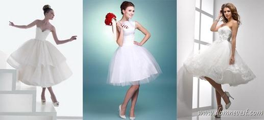 короткие свадебные платья ретро