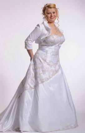 свадебное платье для полных с рисунком
