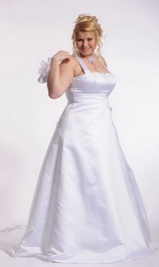 свадебное платье для полных А-силуэт