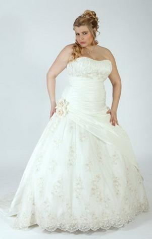 свадебное платье для полных без бретелек