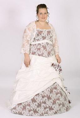 свадебное платье с крупными цветами