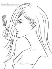 расчешите волосы