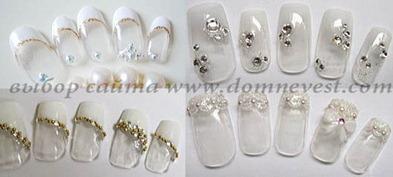 накладные ногти прозрачные с рисунком