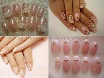 дизайн накладных ногтей на свадьбу