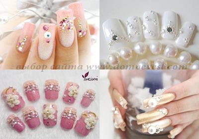 накладные ногти свадебные