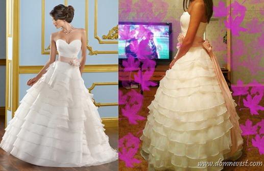 китайская копия свадебного платья Mori Lee