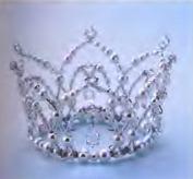 свадебная корона из бисера и бусин