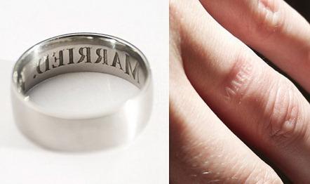 обручальное кольцо с тиснением
