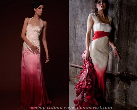 красно-белые свадебные платья chrissi wai-ching