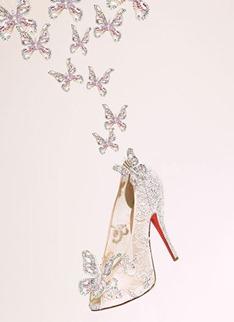 туфельки Золушки с бабочками