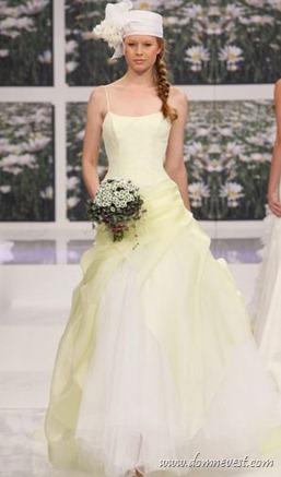 свадебное платье с ромашками