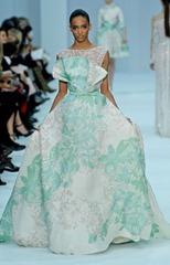 бело-зеленые свадебные платья (3)