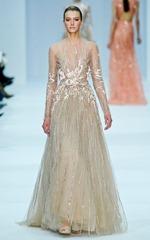 бежевые свадебные платья (5)