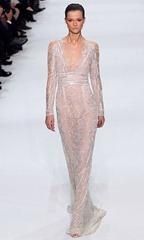 elie saab 2012 белое свадебное платье2