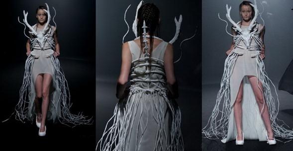 платье с рогами от Christian Dada