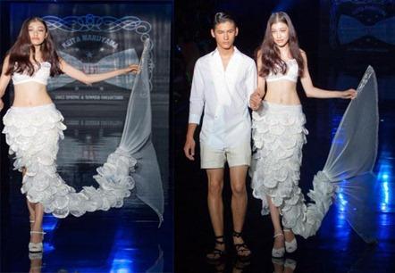 свадебное платье русалка от Keita Maruyama