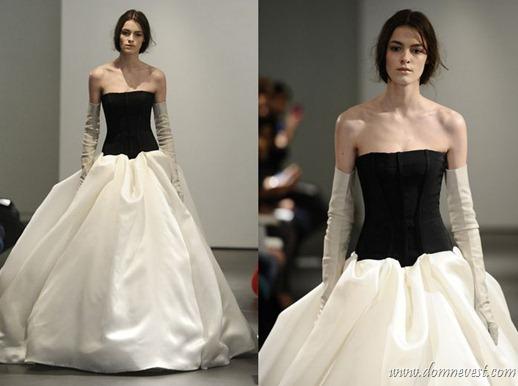 черно-белые свадебные платья 2014
