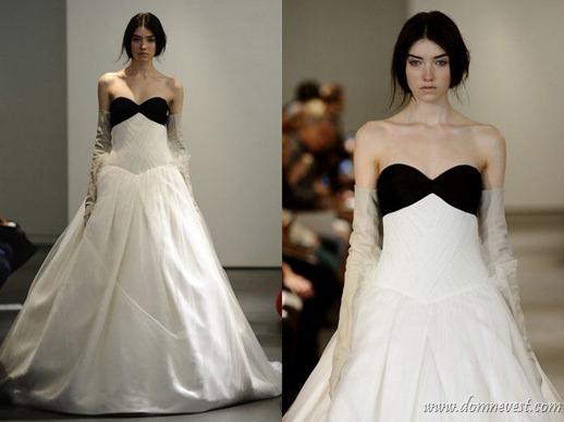 свадебное платье с черным лифом