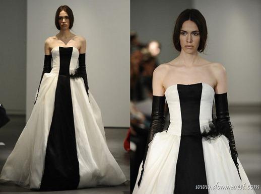 черно-белое свадебное платье vera wang