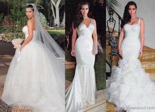 свадебные платья Ким Кардашьян
