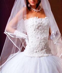 вязаный свадебный корсет