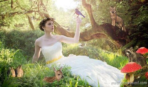 Тема свадьбы Белоснежка