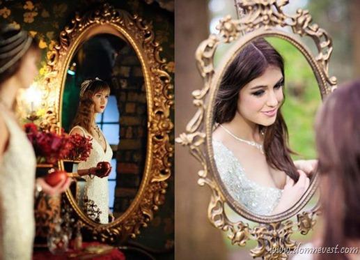 зеркало на фотосессии