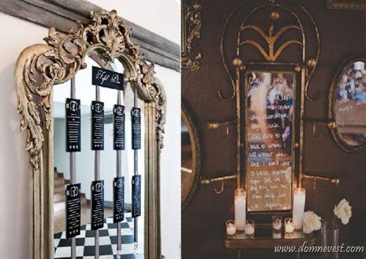 зеркало в свадебном зале