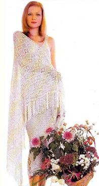 вязаная свадебная шаль