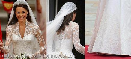 Через несколько дней копии свадебного платья Кейт Миддлтон стали продаваться во всех Интернет-магазинах одежды Китая и на крупнейших торговых