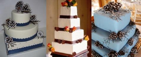 свадебные торты с шишками