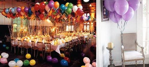 шарики на свадьбе